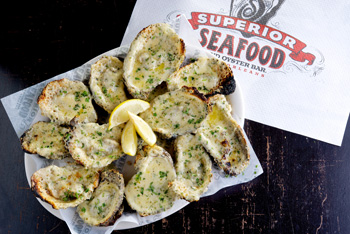 Oysters at Superior Seafood New Orleans